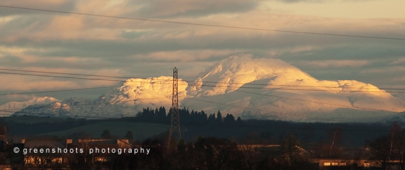 Ben Lomond and the mountains beyond
